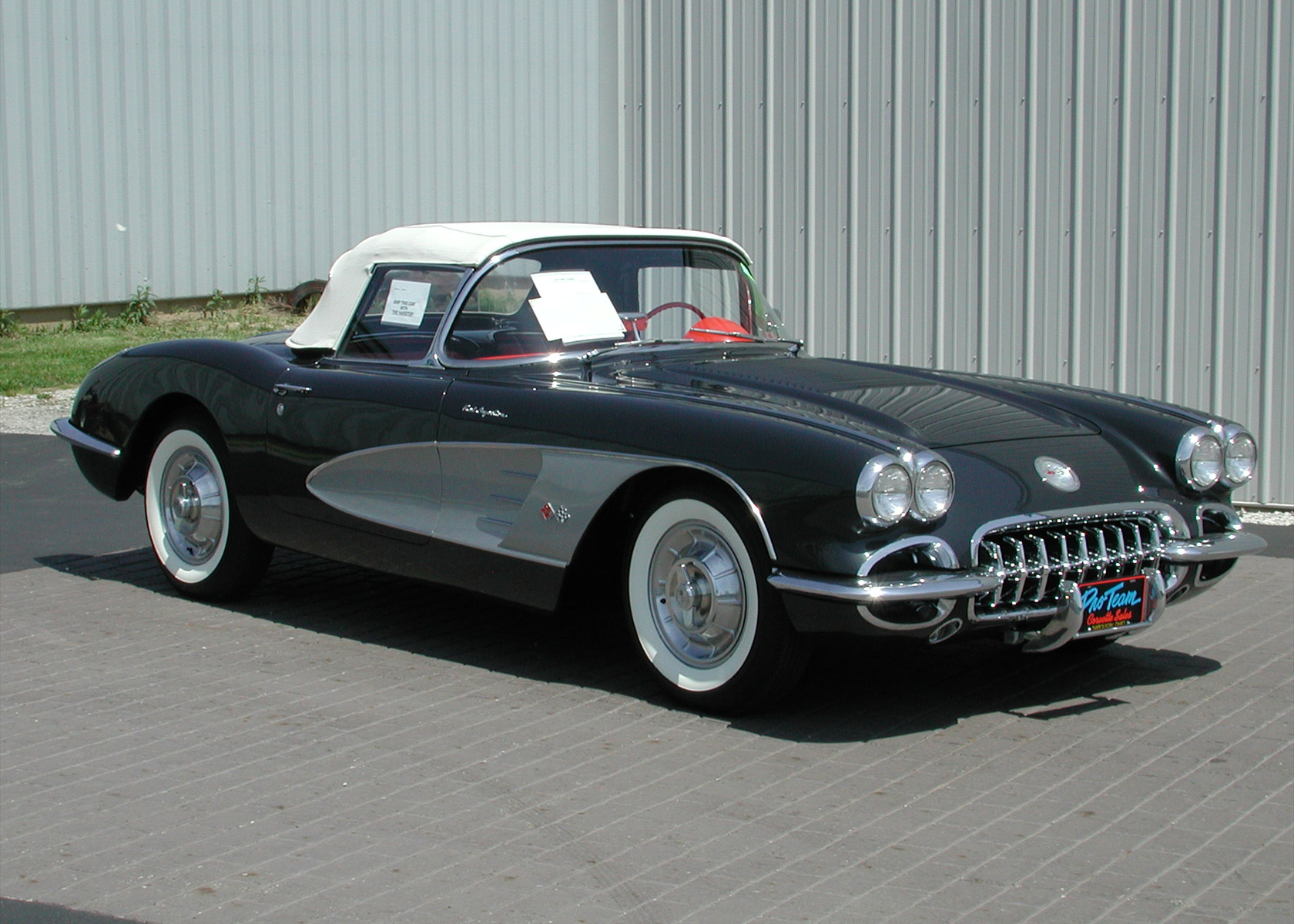 1958 Corvette Photo Proteam Classic Corvettes